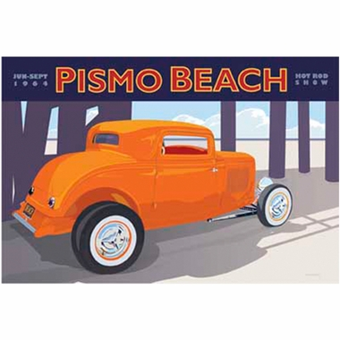 Art 4 Kids Pismo Beach Orange Car Wall Art