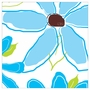 Art 4 Kids Pretty Petals Panel II Blue Wall Art
