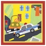 Art 4 Kids Rescue Police Car Wall Art