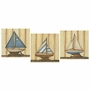 Art 4 Kids Sailboat 3 Piece Collection Wall Art
