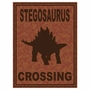Art 4 Kids Stegosaurus Crossing Wall Art
