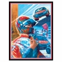 Art 4 Kids Stock Car Driver Wall Art