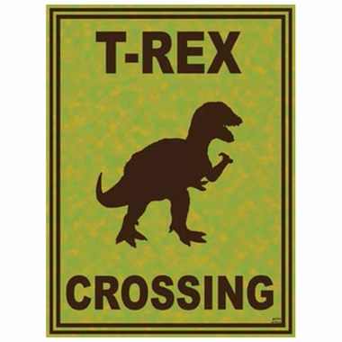 Art 4 Kids T-Rex Crossing Wall Art