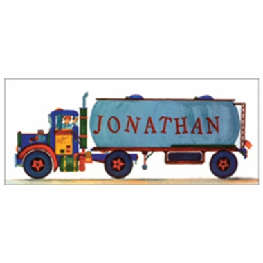 Art 4 Kids Tank Truck Create-A-Name Wall Art