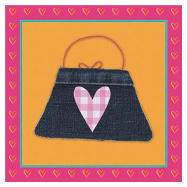 Art 4 Kids Tres Chic Check Purse Wall Art