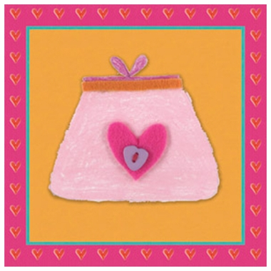 Art 4 Kids Tres Chic Pink Purse Wall Art