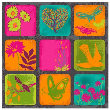 Art 4 Kids Vivid Organic II Wall Art