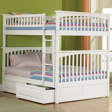 Atlantic Furniture Columbia Full Over Full Bunk Bed In White Free