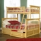 Atlantic Furniture Columbia Twin Over Full Bunk Bed in Natural Maple