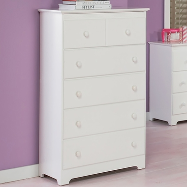 Atlantic Furniture Windsor  Drawer Tall Dresser In White Click To Enlarge