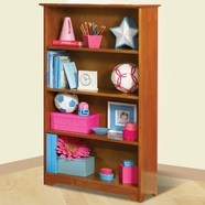 Atlantic Furniture Windsor Book Shelf in Caramel Latte