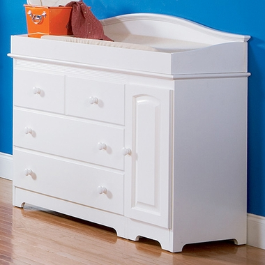 Atlantic Furniture Windsor Combo Changing Table 3 Drawer Dresser In White Click To Enlarge