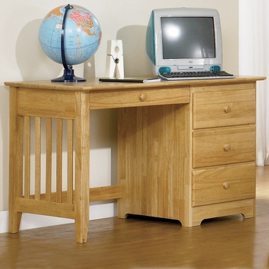 Atlantic Furniture Windsor Desk With Drawer In Natural Maple Free