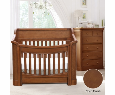 Baby Appleseed Carlisle 2 Piece Nursery Set - Convertible Crib and 5 Drawer Chest in Coco