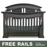 Baby Appleseed Chelmsford 3-in-1 Convertible Crib in Brown Slate