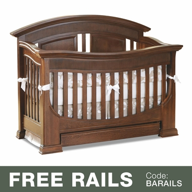 Baby Appleseed Chelmsford 3-in-1 Convertible Crib in Coco - Click to enlarge