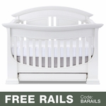 Baby Appleseed Chelmsford 3-in-1 Convertible Crib in Pure White