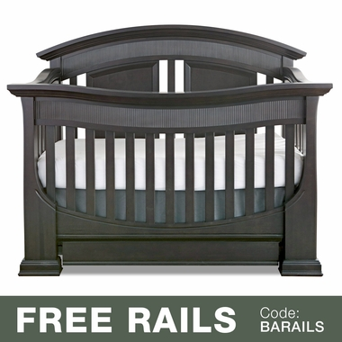 Baby Appleseed Chelmsford 3-in-1 Convertible Crib in Brown Slate - Click to enlarge
