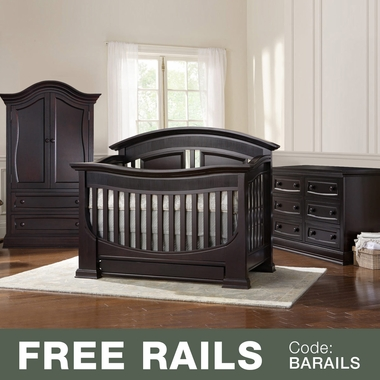 Baby Appleseed Chelmsford 3 Piece Nursery Set   Convertible Crib, Armoire  And Double Dresser In