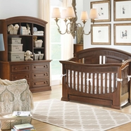 Baby Appleseed Chelmsford 3 Piece Nursery Set - Convertible Crib, Double Dresser and Hutch in Coco