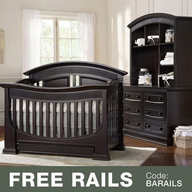 Baby Leseed Chelmsford 3 Piece Nursery Set Convertible Crib Double Dresser And Hutch In