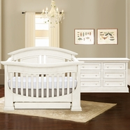 Baby Appleseed Chelmsford Convertible Crib Sets in Colonial White