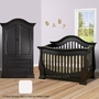 Baby Appleseed Davenport 2 Piece Nursery Set - Convertible Crib and Matching Armoire in Colonial White