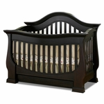 Baby Appleseed Davenport 3-in-1 Convertible Crib in Espresso
