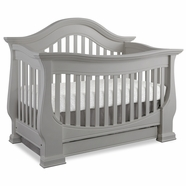 Baby Appleseed Davenport Convertible Crib in Moon Gray