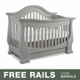 Baby Appleseed Davenport 3-in-1 Convertible Crib in Moon Gray