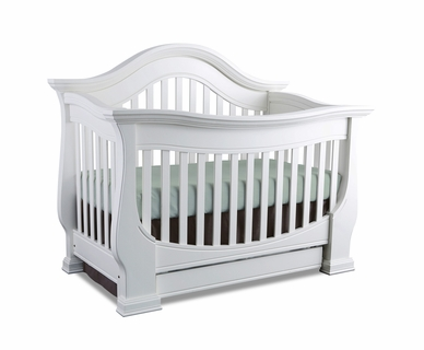 Baby Appleseed Davenport 3 In 1 Convertible Crib In Pure White