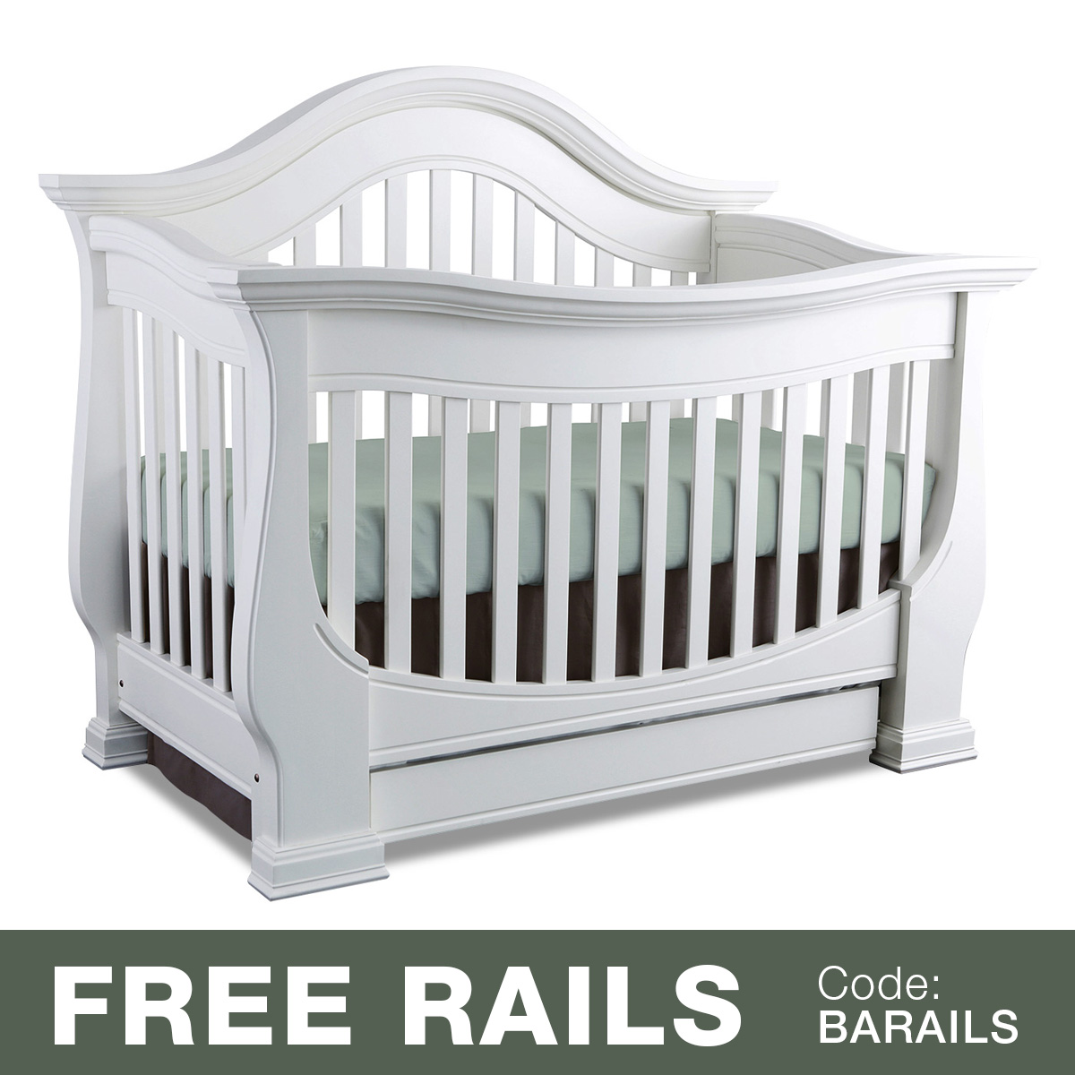 Baby Appleseed Davenport 3 In 1 Convertible Crib In Espresso FREE SHIPPING