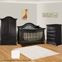 Baby Appleseed Davenport 3 Piece Nursery Set - Convertible Crib, Armoire and 5 Drawer Chest in Colonial White