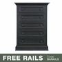 Baby Appleseed Davenport 5 Drawer Dresser in Brown Slate