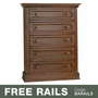 Baby Appleseed Davenport 5 Drawer Dresser in Coco