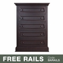 Baby Appleseed Davenport 5 Drawer Dresser in Espresso