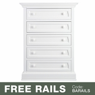 Baby Appleseed Davenport 5 Drawer Dresser in Pure White