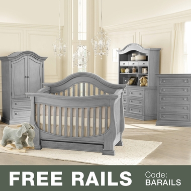 Delicieux Baby Appleseed Davenport 5 Piece Nursery Set   3 In 1 Convertible Crib,