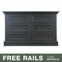 Baby Appleseed Davenport 6 Drawer Double Dresser in Brown Slate