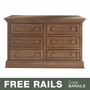 Baby Appleseed Davenport 6 Drawer Double Dresser in Coco