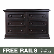 Baby Appleseed Davenport 6 Drawer Double Dresser in Espresso