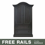 Baby Appleseed Davenport Armoire in Brown Slate