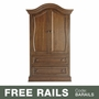 Baby Appleseed Davenport Armoire in Coco
