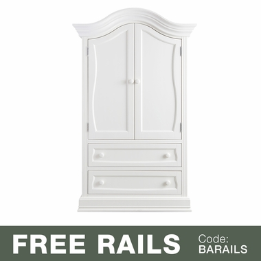Baby Leseed Davenport Armoire In Pure White