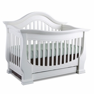 Baby Appleseed Davenport Convertible Crib in White