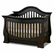 Baby Appleseed Davenport Convertible Crib in Espresso