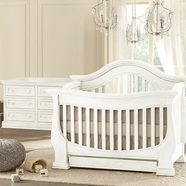 Baby Appleseed Davenport Convertible Crib Sets in Colonial White