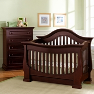 Baby Appleseed Davenport Convertible Crib Sets in Merlot