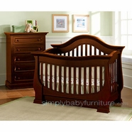 Baby Appleseed Davenport Convertible Crib Sets in Heritage Cherry