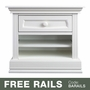 Baby Appleseed Davenport Nightstand in Pure White